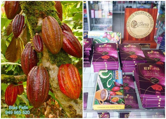 Productos a base de cacao en Yurimaguas