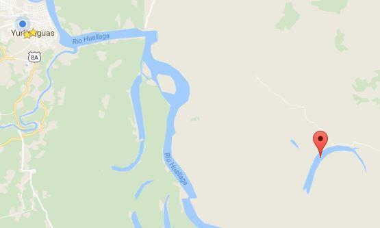 mapa del Lago Cuipari en Alto Amazonas