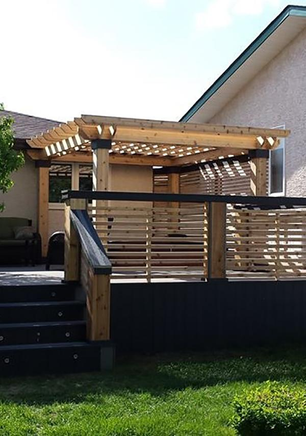 Modern Deck and Fencing