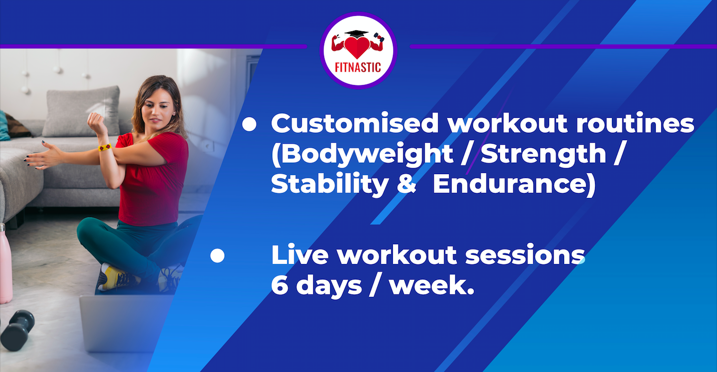 Customised Workout Routine and Live Workout Sessions