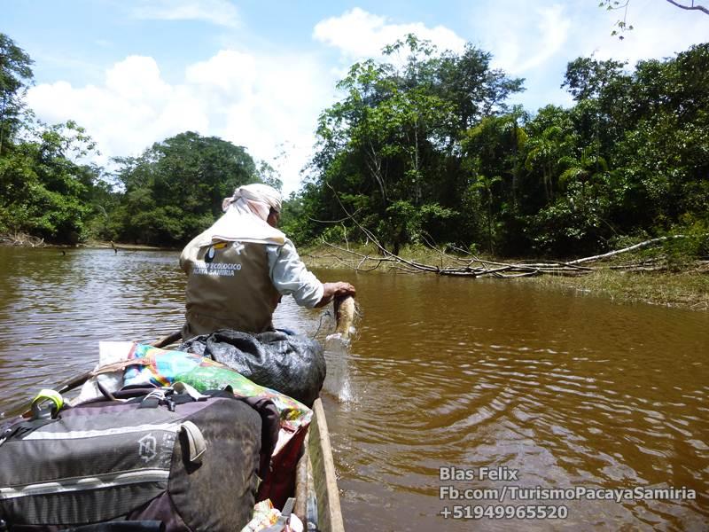 Pacaya Samiria Reserva recorrido en canoa