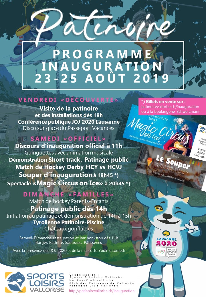 Inauguration Patinoire - Affiche Programme Complet