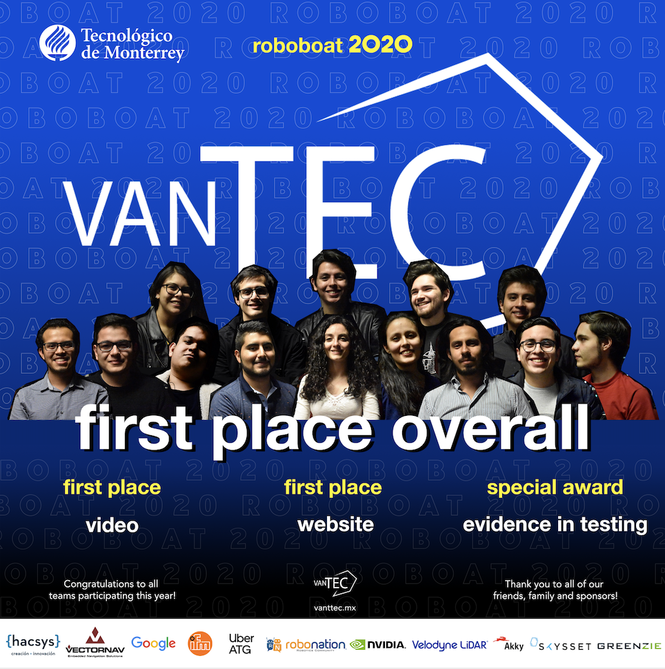 Vanttec First Place Winners RoboBoat 2020