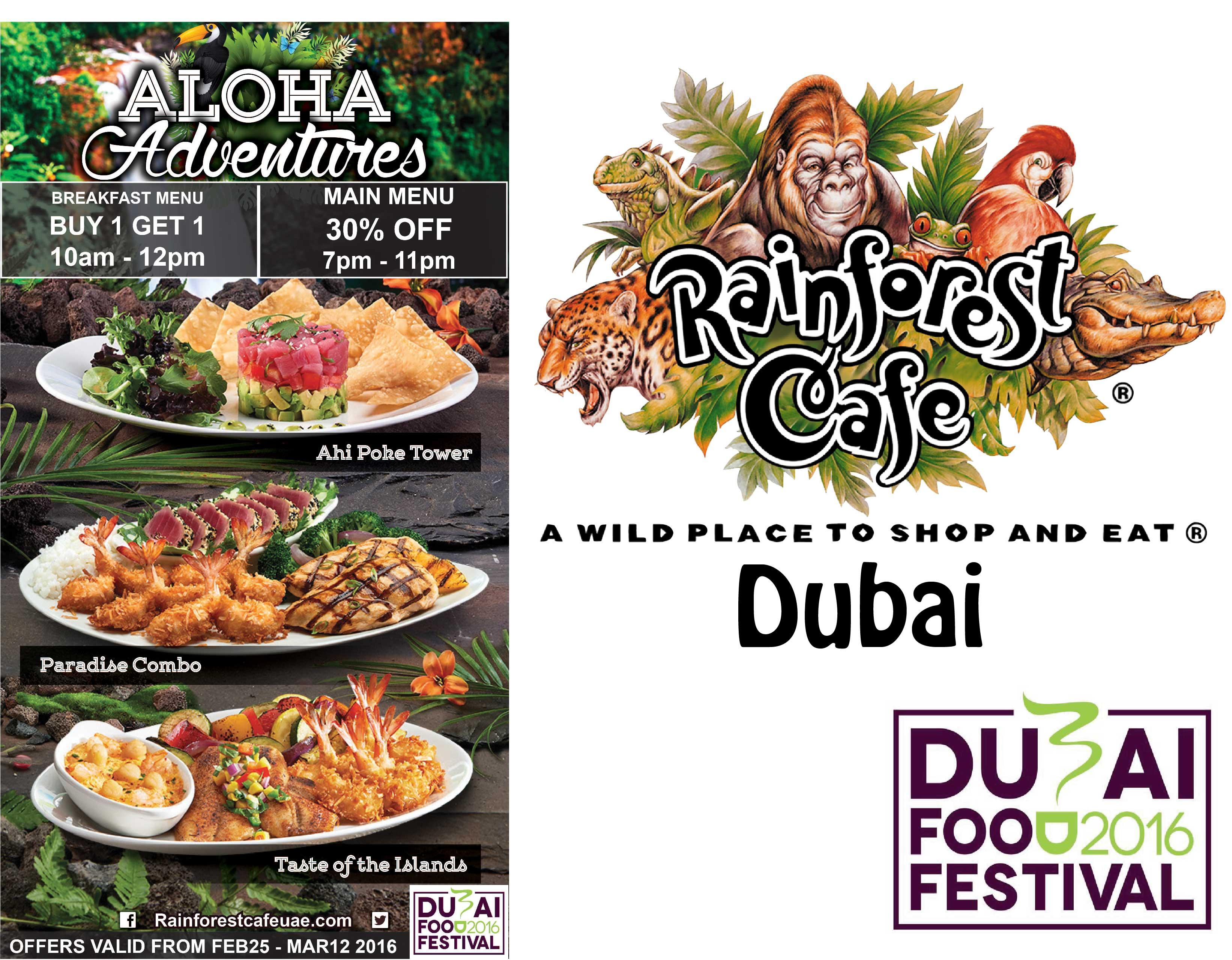 photo regarding Rainforest Cafe Printable Coupon identify Rainforest restaurant promotions 2018 - Maya cafe coupon codes