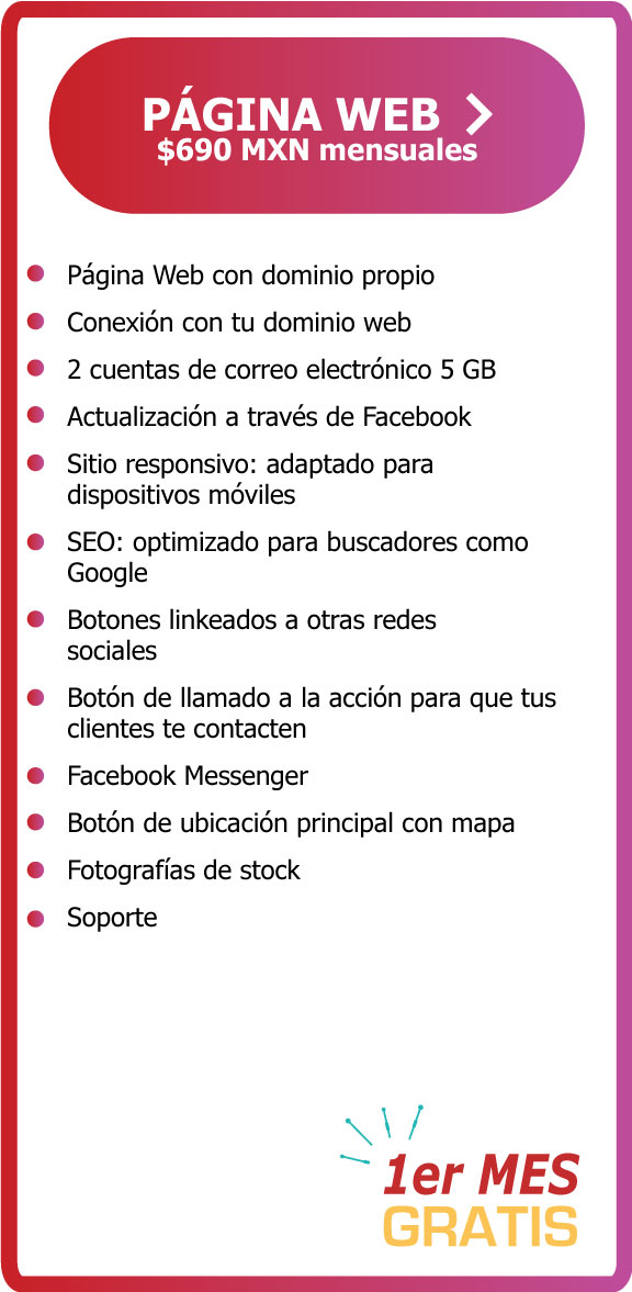 Página web dominio correo electrónico paquete pyme básico