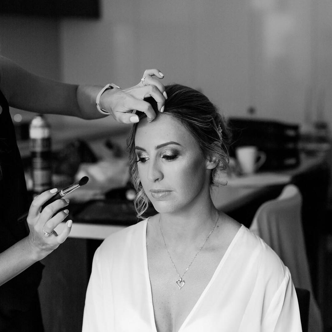 bridal and school ball makeup specialist-action shot