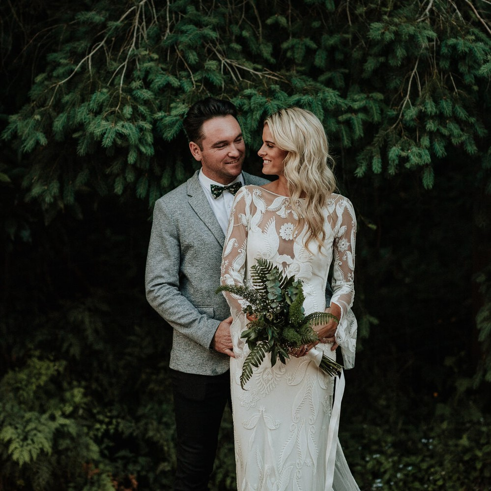 makeup and hairstyling for a natural rustic wedding at the black barn venue in lake Tarawera, Rotorua
