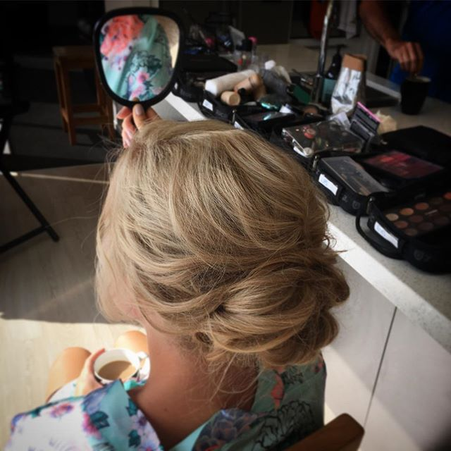 bridesmaids bohemian styled hairdo-wedding prep-Mount Maunganui