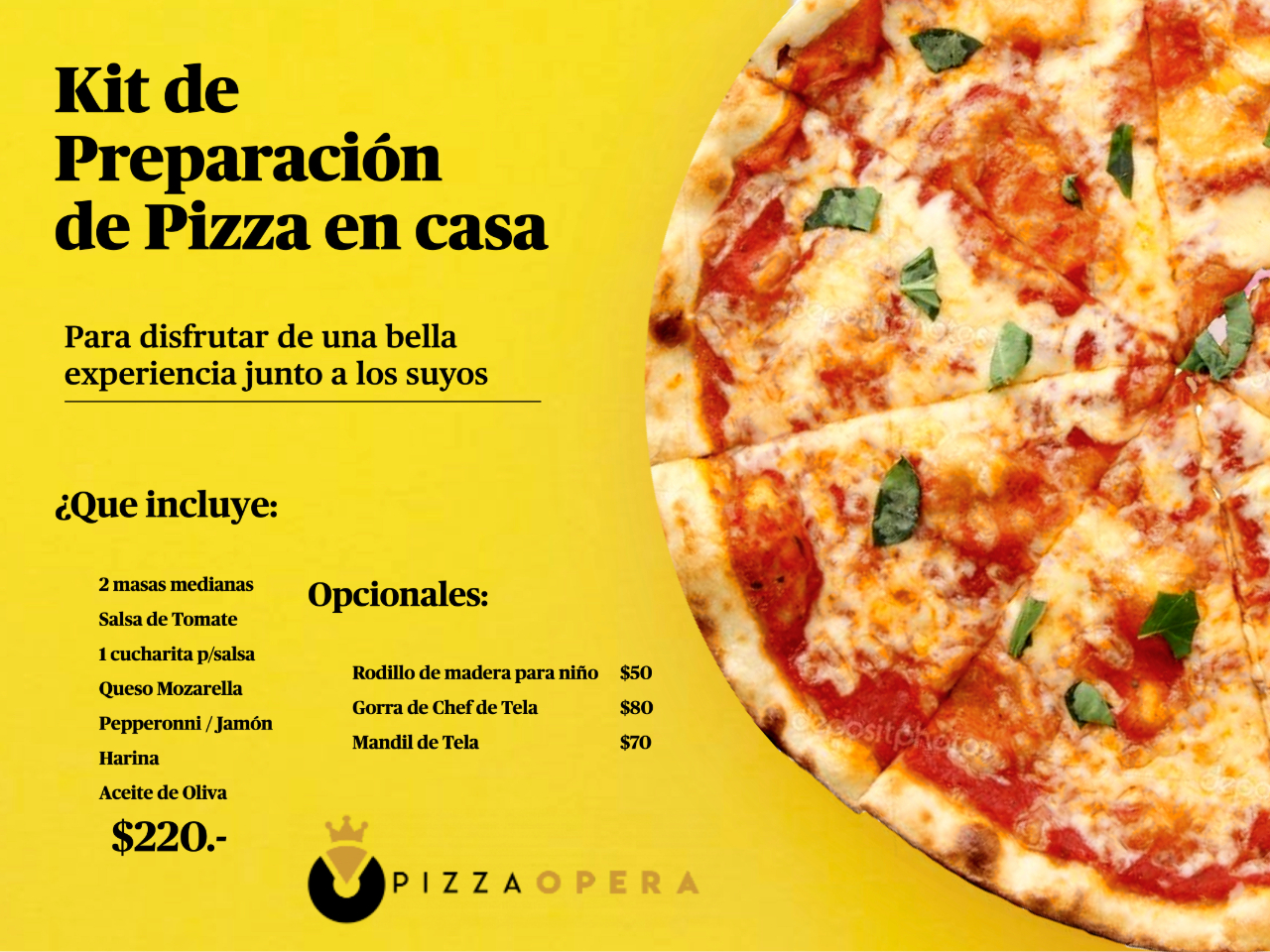 Kit de Preparación de Pizza en Casa