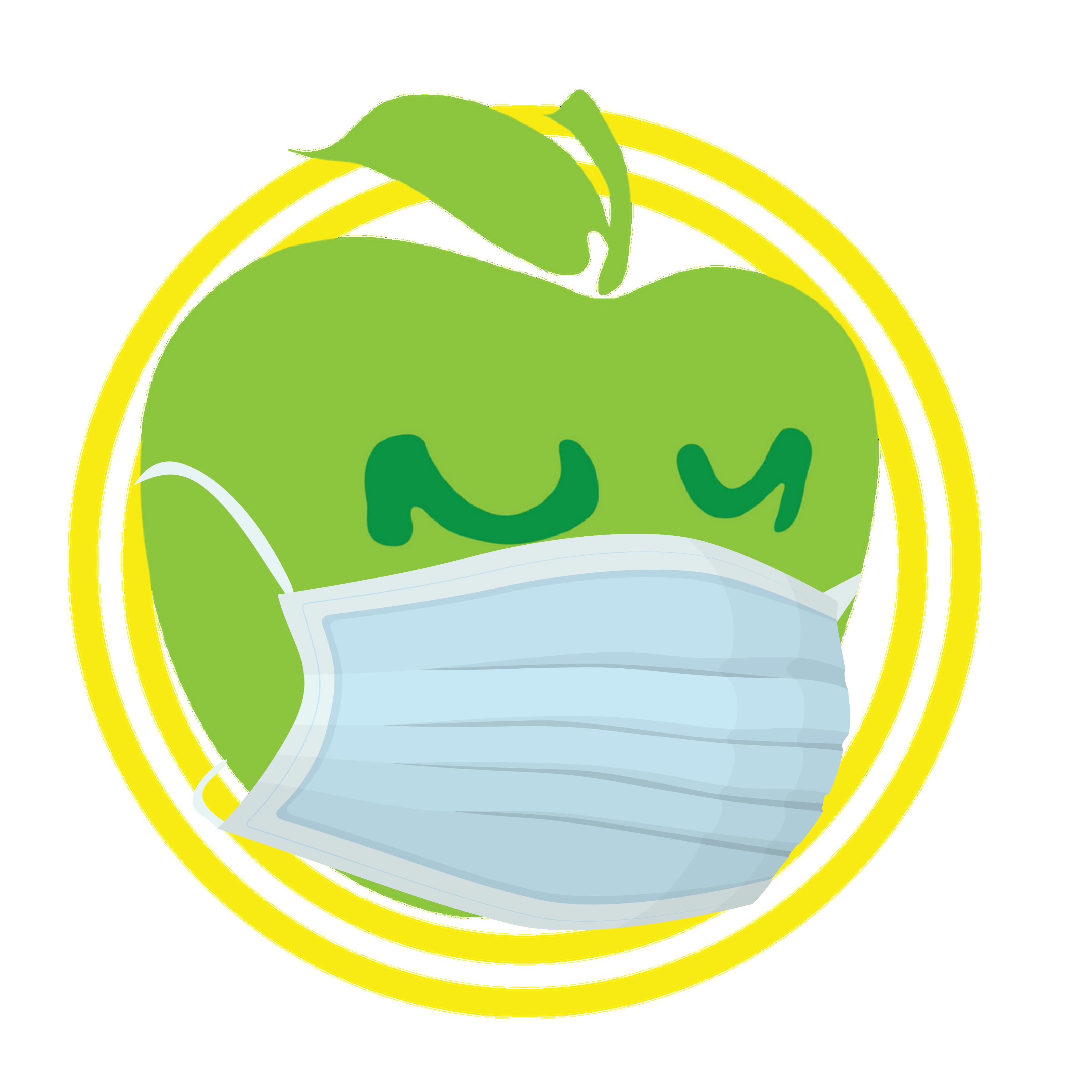 Apple Logo with Blue Mask