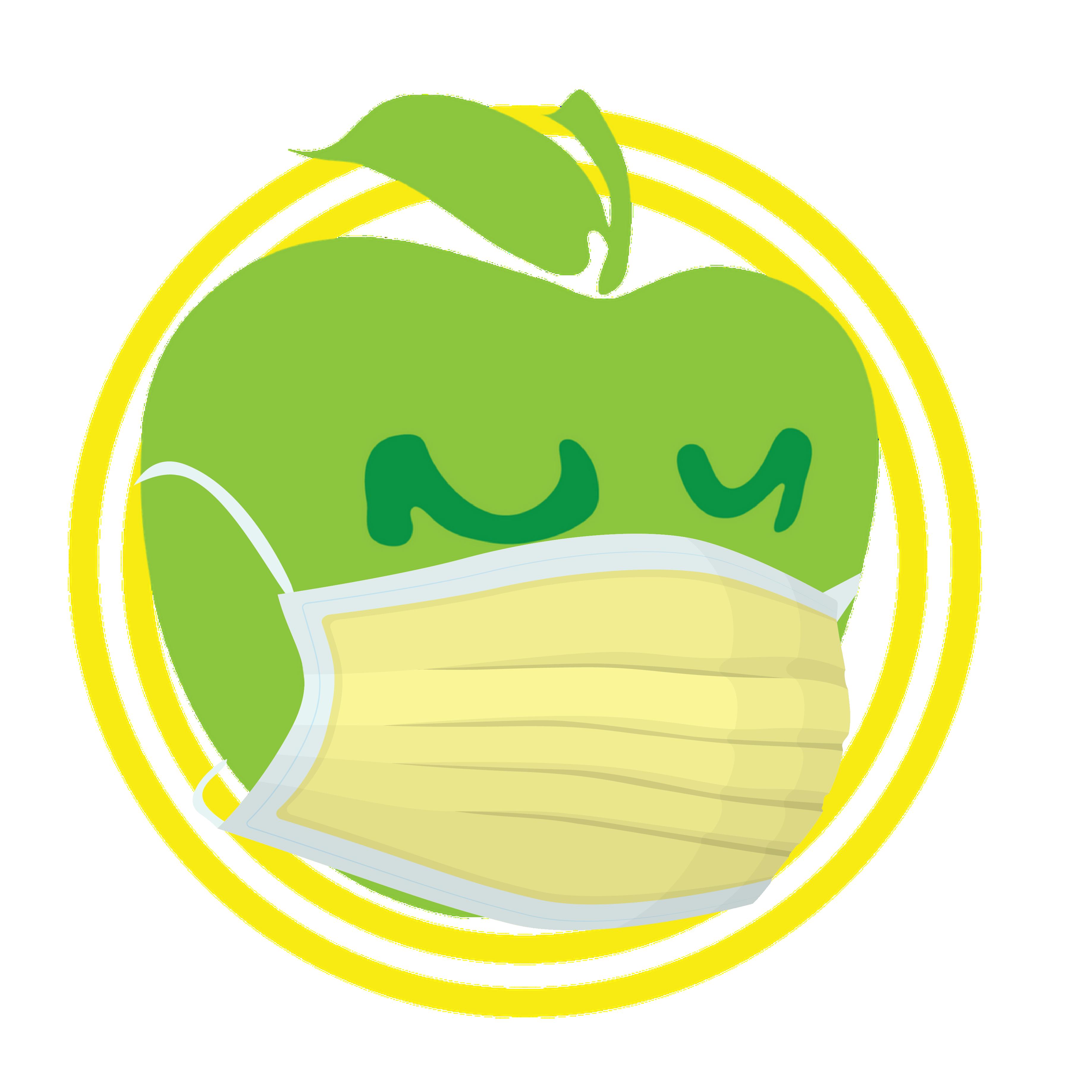 Apple Logo with Yellow Mask