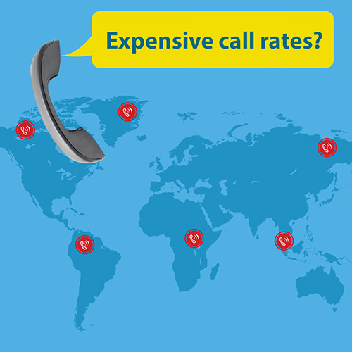 Up to 70% phone call saving