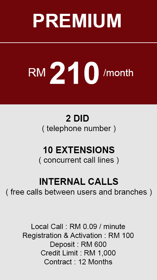 hosted PBX Malaysia - Premium Plan