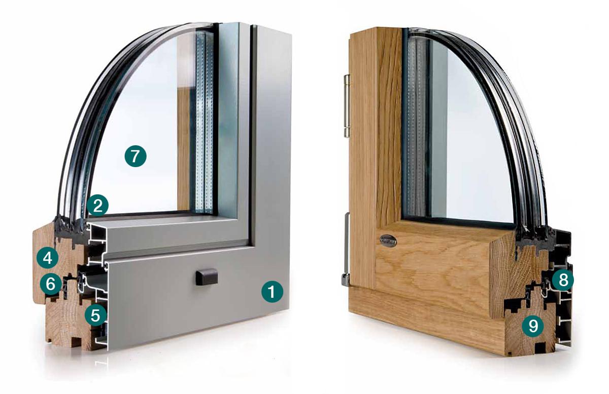 Finestre legno alluminio appia infissi srl for Appia infissi srl