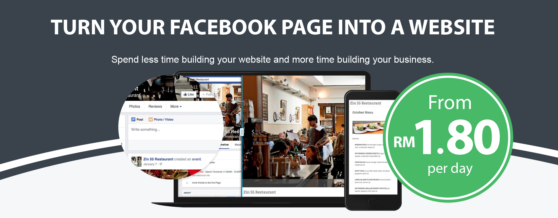 Turn your Facebook page into a website - Pagevamp Malaysia