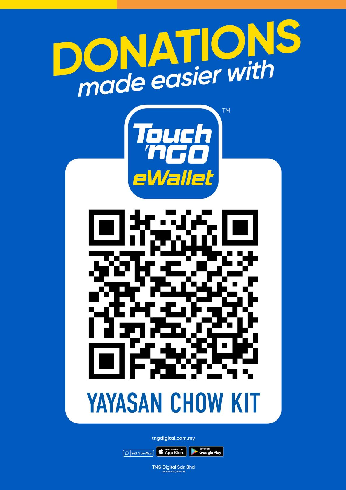 Donate with Touch'n Go eWallet